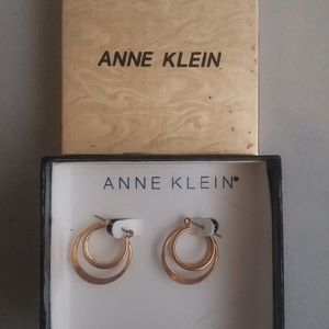 Anne Klein Gold Tone Triple Hoop Earrings  BoxedTr
